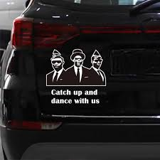 Funny Car Styling Vinyl Decal Car Sticker Catch Up And Dance With Us Black Coffin Car Stick Aliexpress