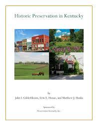 pdf historic preservation in cky