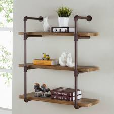 industrial aged 3 tiered wood print mdf