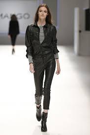 black leather pants jacket