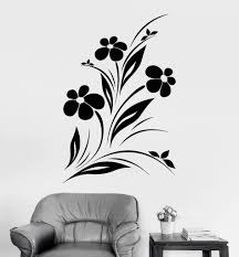 Vinyl Wall Decal Beautiful Flowers Nature Garden Bedroom Design Stickers Unique Gift 951ig Wall Painting Decor Garden Bedroom Wall Decals