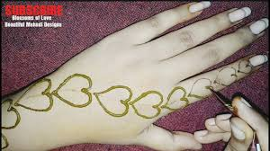 hand simple love mehndi design
