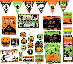 Kit Imprimible Halloween Invitaciones Fiesta Cumpleanos Bs 500