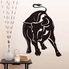 Raging Bull Wall Sticker For Living Room Wall Decoration Hollow Out Animal Vinyl Self Adhesive Wallpaper Decals Home Decor Wall Sticker Stickers Forsticker For Living Room Aliexpress