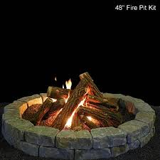 fire pit ceramic gas log set with