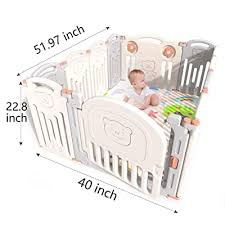 Kidsclub Baby Playpen Infants Safety Fence Foldable Portable Play Yard Hdpe Bpa Free Home Indoor Outdoor Activity Centre Play Pen 12 Panel Buy Products Online With Ubuy Philippines In Affordable Prices B07skvvh1g