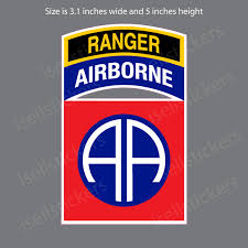 82nd Airborne Ranger Division Army Infantry Fort Bragg Bumper Sticker Window Decal