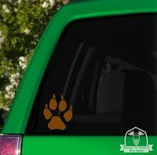 Wolf Paw Print Car Window Decal Car Sticker Vinyl Decal Window Etsy