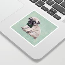 Angry Pug Sticker By Sparafuori Society6