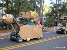 disney s halloween golf cart parade