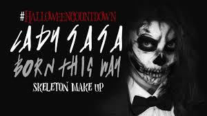 born this way skeleton makeup
