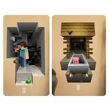 Minecraft 3d Giant Wall Graphics Decal Stickers Reuse Cling Steve Pig 2 Pk Top Product Keurig Us1