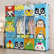 Amazon Com Kousi Kid Clothes Storage Organizer Baby Dresser Kid Closet Baby Clothes Storage Cabinet For Kids Room Baby Wardrobe Toddler Closet Childrens Dresser Blue 56 W X 14 D X 56 H Home Kitchen