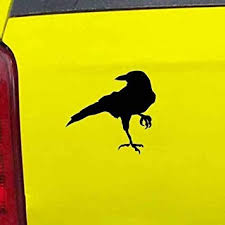 Amazon Com Ranger Products Crow Raven Jackdaw Decal Sticker Die Cut Vinyl Decal For Windows Cars Trucks Tool Boxes Laptops Macbook Virtually Any Hard Smooth Surface Automotive