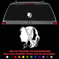 Amazon Com Hairstylist Scissor Hairdresser Haircut Die Cut Vinyl Decal Sticker For Car Truck Motorcycle Vehicle Window Bumper Wall Decor Laptop Helmet Size 15 Inch 38 Cm Tall And Color Gloss Black
