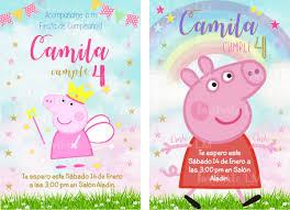 Invitaciones Peppa Pig Imprimibles 50 00 En Mercado Libre
