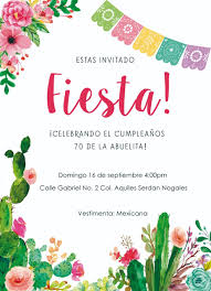 Invitacion Con Tematica Mexicana Para Cumpleanos O Noche Mexicana