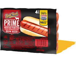 prime bun size beef franks ball park