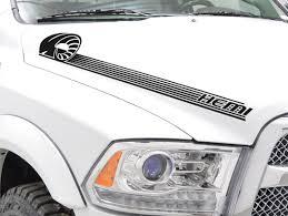Buy 2x Side Stripes Off Road 4x4 Truck Fender Hood Vinyl Sticker Decal Fits To Dodge Ram 1500 2500 3500