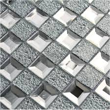 mirrored glass mosaic tile 1x1 chips