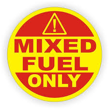 2 Inch Mixed Fuel Only Vinyl Decal Sticker Label Door Label Gasoline Can Tank Vinyl Sticker Labels Fuel Gas Vinyl Decal Stickers