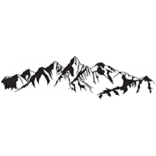 Amazon Com Dnven 41 Inches X 11 Inches Mountain Hill Silhouette Decorative Mural Decals Stickers Art Vinyl Wall Sticker Wallpaper For Living Room Bedrooms Kitchen Dining