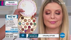 too faced let it snow makeup