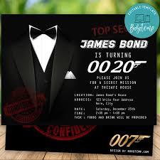 Invitacion Imprimible De Cumpleanos De James Bond Sorpresa Para