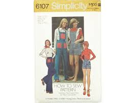Size 11/12 Simplicity 6107 Vintage Overalls Shorts and | Etsy