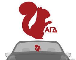 Agd Alpha Gamma Delta Squirrel Car Laptop Dorm Decal Vinyl Decals Sorority Decals Alpha Gamma Delta