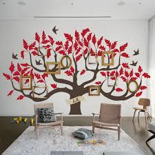 Family Tree Wall Decal Home Decor Wall Decals For Bedroom Living Room Vinyl Stickers Diy Self Sticking Birds Custom Name Lc1432 Wall Stickers Aliexpress