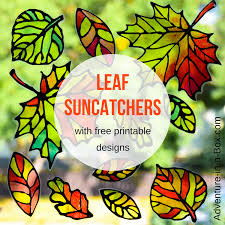 stained glass leaf suncatcher with free