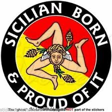 Sicily Sicilian Born Proud Italy Sicilia Italian Decal Sticker 4 100mm X1 Ebay