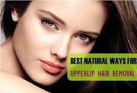 upper lip hair at home naturally