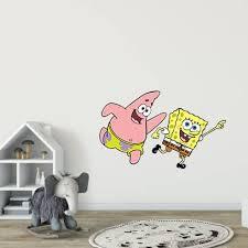 Spongebob Patrick Star Squarepants Children Cartoon Wall Sticker Art Decal For Girls Boys Room Bedroom Nursery Kindergarten House Fun Home Decor Stickers Wall Art Vinyl Mural Decoration 30x15 Inch Walmart Com