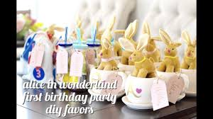 Alice In Wonderland First Birthday Party Diy Favor Ideas Youtube