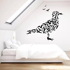 Abstract Gulls Flock Of Birds Animals Seagull Vinyl Wall Decal Home Decor Living Room Art Mural Removable Wall Stickers Wall Stickers Aliexpress