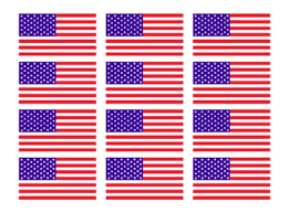 American Flag 12 2 Helmet Stickers Usa Sticker Decal Texas Die Cuts