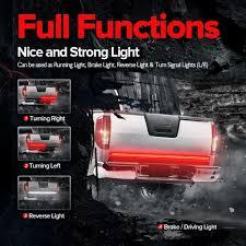 Mictuning 60 ''Đôi Hàng Xe Tải Ốp Lưng Bên Giường Đèn Trang Trí Linh Hoạt  Dải LED Xe Hơi Biến Tín Hiệu Chạy Phanh Ngược đèn|