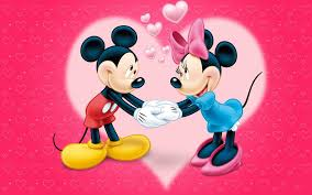 love couple cartoon red wallpaper