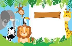 Verde De La Selva Animales Personalizado Infantil Fiesta Invitaciones