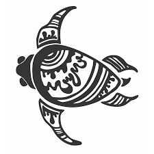 Henna Turtle Decal Sticker 7 5 Inches By 6 5 Inches Black Vinyl Walmart Com
