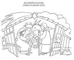 Kleurplaat Kerstfeest Dibujos Navide Os Para Colorear Pesebre