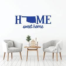 Home Sweet Home State Of Oklahoma Vinyl Decor Wall Decal Customvinyldecor Com