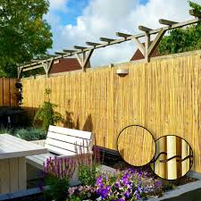 Natural Fence Garden Screening Fencing Panel Privacy Screen Slat Roll 4mx1 2m Ebay