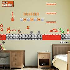 Amazon Com Fathead Nes Super Mario Bros Bowser S Castle Room Theme Large Officially Licensed Nintendo Removable Graphics Wall Decal Home Kitchen