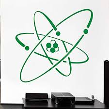 Amazon Com Wall Stickers Wall Tattoos Wall Decals Wall Posters Atom Electron Science Vinyl Chemistry Nuclear Physics Decor 59x56cm Kitchen Dining