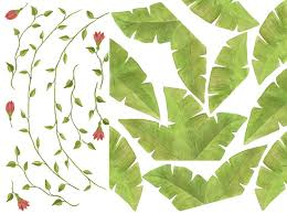 Vine With Leaves And Flowers Clip Art Library