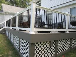 Black Aluminum Posts With Wood Top Rail Deck Railing Ideas Mailbox Home Elements And Style Post Base Fence Plate Support Metal Steel Crismatec Com