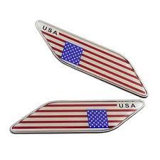 Graphics Decals Parts Accessories 2pcs Aluminum Car Decal Sticker United States Usa Flag Fender Trunk Emblem Badge Megeriancarpet Am
